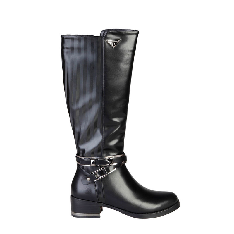 Laura Biagiotti Women's Boots, Side Zip, Decorative Buckle - 2186