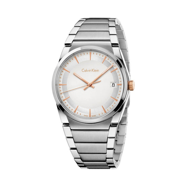 Calvin Klein Men's Steel Strap Grey Quartz Analog Watch - K6K31B