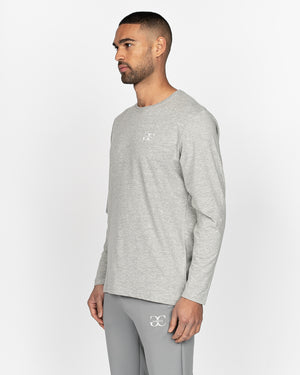 Renzio Long Sleeved T-Shirt Light Grey Marl