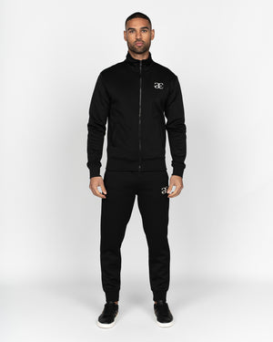 Ciccone Zip Thru Tracktop Black