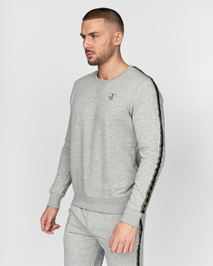 Oldani Crew Sweat Light Grey Marl
