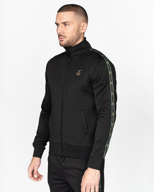 Presutti Zip Thru Tracktop Black