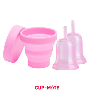 Comfort Guard Set - Liquid Silicone Menstrual Cup Starter Set