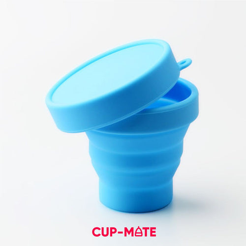 Cup-Mate Collapsible Menstrual Cup Container
