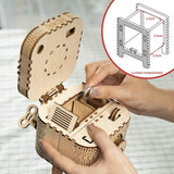Robotime 123pcs Creative DIY 3D Treasure Box Wooden Puzzle Game Assembly Toy Gift for Children Teens Adult