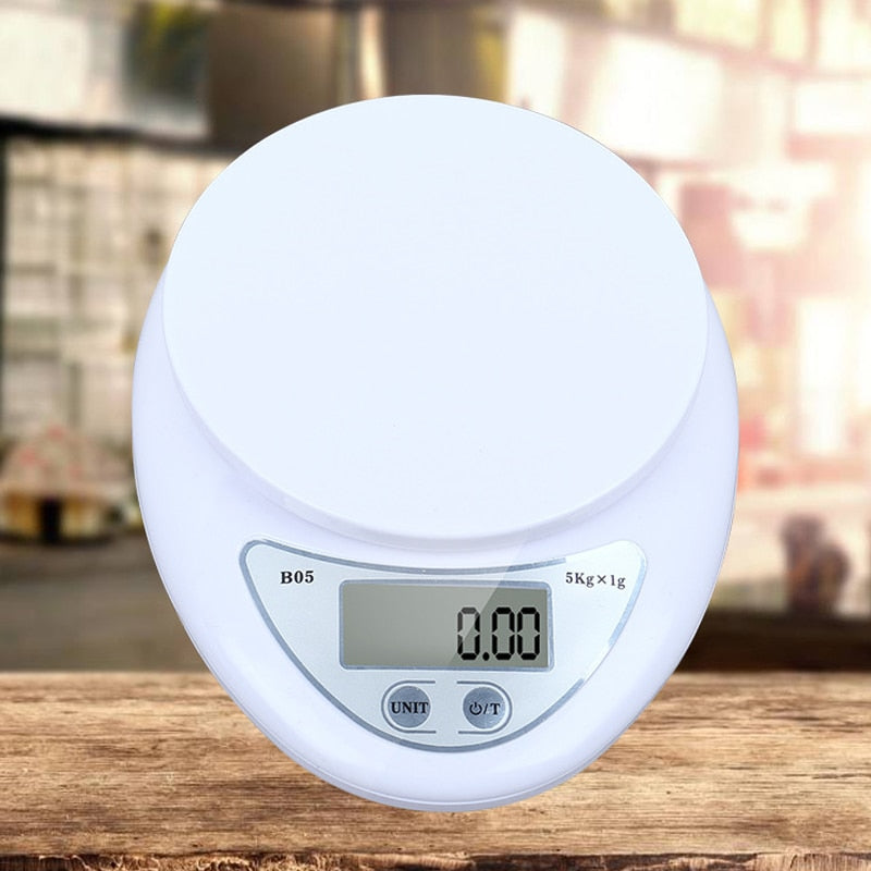 5kg / 1g Portable Digital Scale LED Electronic Scale Food Measurement Weight Battery Powered Measurement Weight Kitchen Gadget