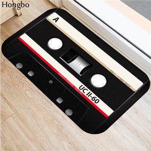 Hongbo Magnetic Tape Mats Anti Slip Floor Carpet 3D Tape Pattern Print Doormat for Bathroom Kitchen Entrance Rugs Home