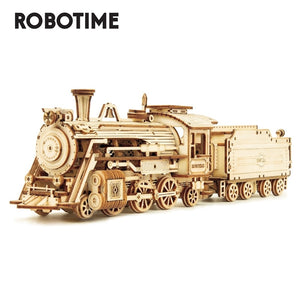 Robotime Rokr 6 Kinds DIY Laser Cutting Mechanical Model Wooden Model Building Kits Assembly Toy Gift for Children Adult