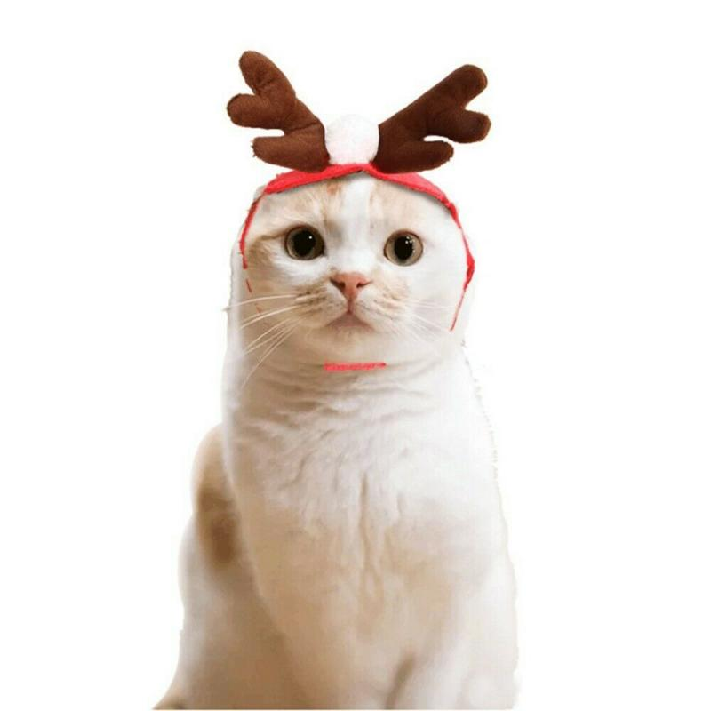 Christmas Clothes Warm Dog Cat Clothes Puppy Santa Claus Red Scarf Hat Deer Head Cute Dog Cloak Cat Costume Pet Warm Clothing