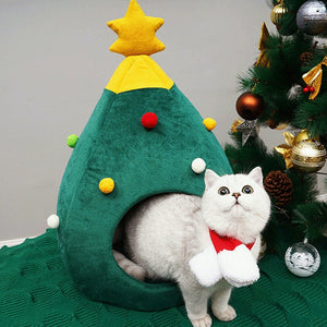 Christmas Pet Cat House