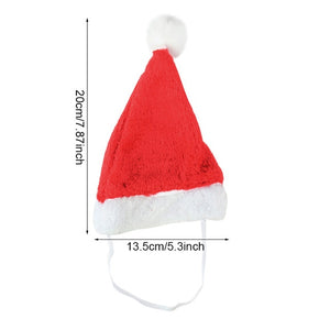 Christmas Small Plush Santa Hat for Pet Dog Cat Hat Merry Christmas Decorations For Home Cap Noel Navidad Happy New Year Gift