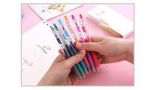 6pcs/set Popular 3D Jelly Pen Candy Color Gel Pen 1.0mm Colored Ink Art Painting Writing Pens DIY Drawing Graffiti Art Supplies