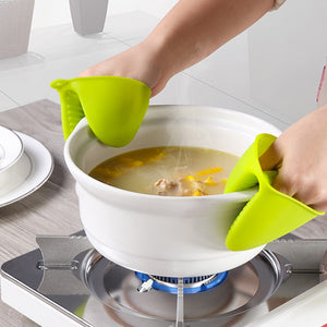 Kitchen Microwave Oven Silicone Resistant Heat Temperature Gloves Insulation Anti Scald Hand Clip Bbq Organizer Accessories