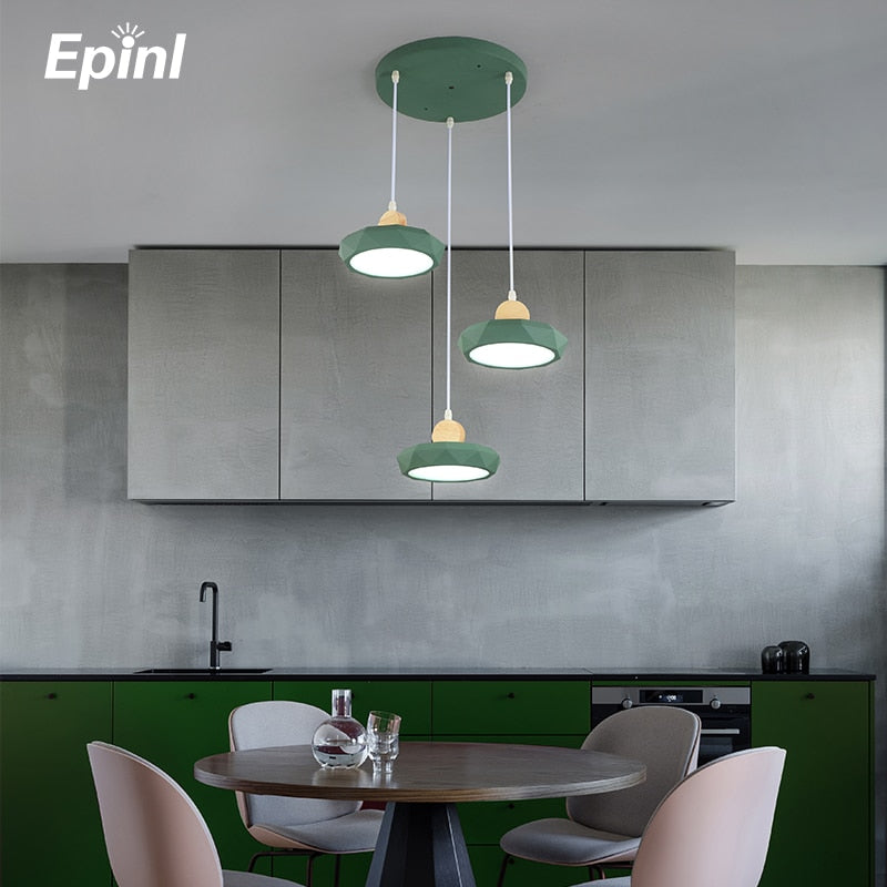 Epinl Modern Wooden Pendant Lights Design DIY Restaurant Kitchen Cafe Decor Bedroom LED Fixtures Hanging Lamp Christmas Decor