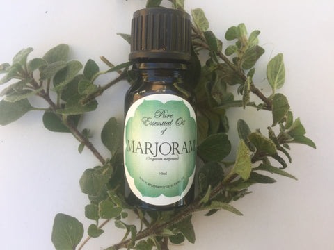 Pure Essential oil of Sweet Marjoram.(Origanum majorana))