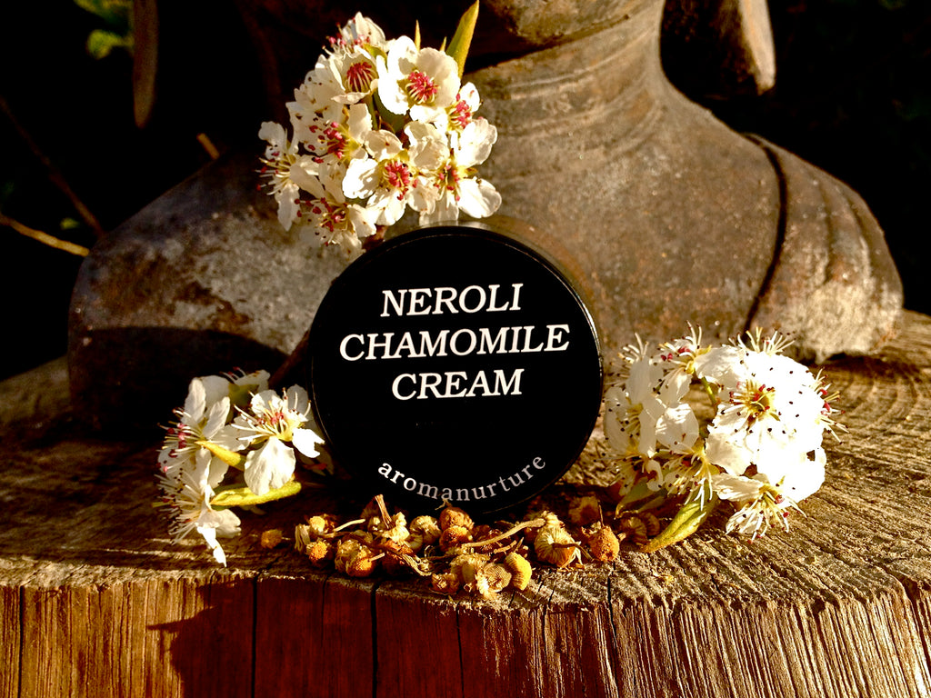 Neroli and chamomile is for ultrasensitive skin.Treats acne rosacea and mends broken capillaries .