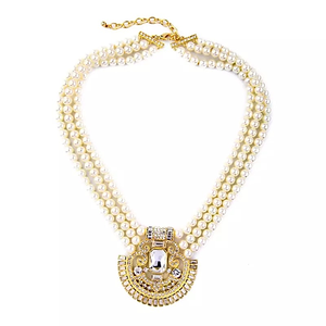 Gold Pendant Pearl Necklace