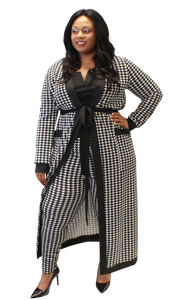 Houndstooth Duster Set