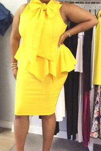 Mustard Peplum Dress