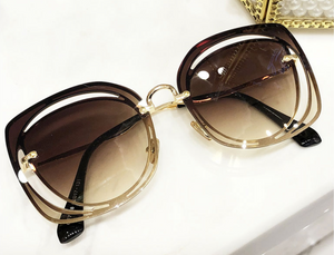 Round Cut-Out Sunglasses