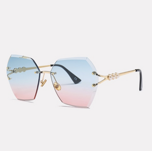 Open image in slideshow, Blue and Pink Ombre Sunglasses