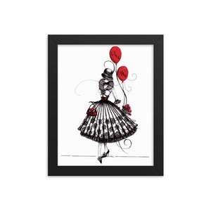 Open image in slideshow, Fancy lady dressed with frills. Girls room wall decor. Framed poster