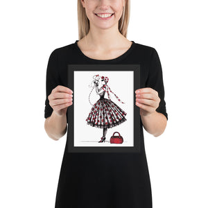 Open image in slideshow, Fashion girl with puddle art. Home decor wall gallery, framed prints.