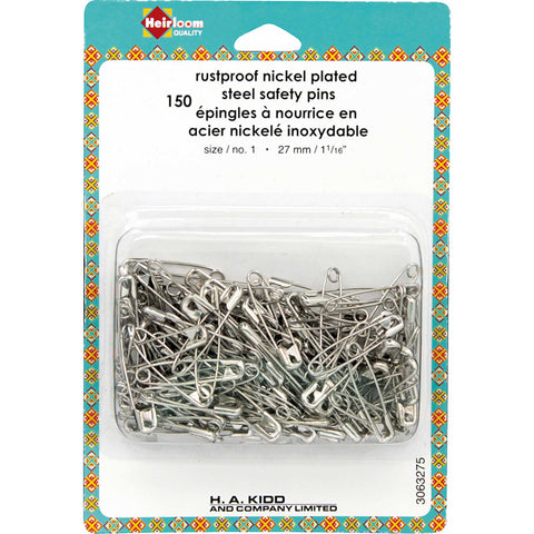 "Safety Pins - 27mm (11⁄16"") Size 1 - 150pcs"
