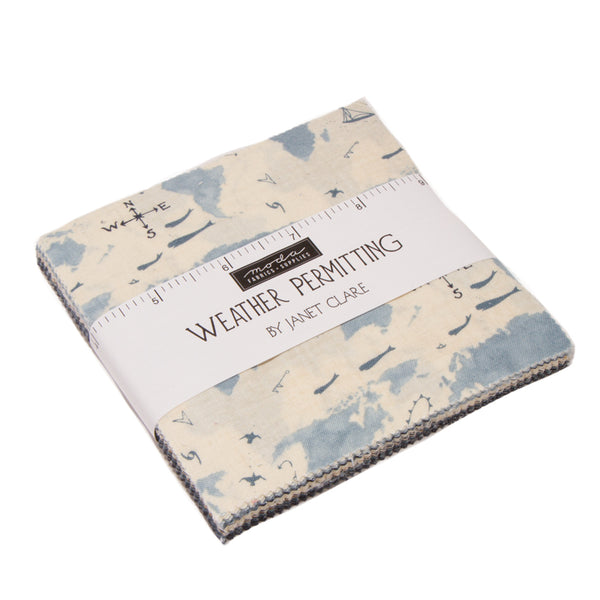 Charm Pack - Weather Permitting - Quilting Cotton - 42 Pieces