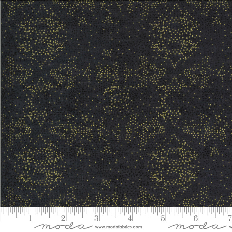 Black with gold and black splattered dots