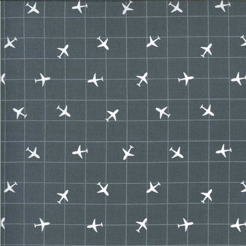 A grid with airplanes on grey