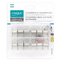 Metal Bobbins in Reusable Box - 12pcs