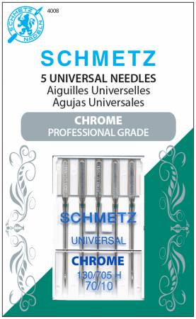 Chrome Universal Schmetz Needle 5 ct, Size 70/10