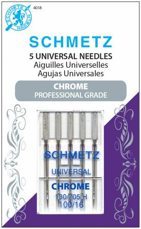 Chrome Universal Schmetz Needle 5 ct, Size 100/16