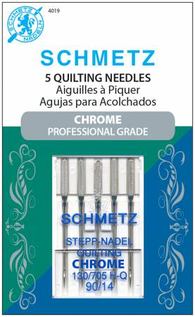 Chrome Quilting Schmetz Needle 5 ct, Size 90/14