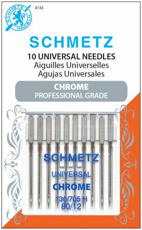 Chrome Universal Schmetz Needle 10 ct, Size 80/12