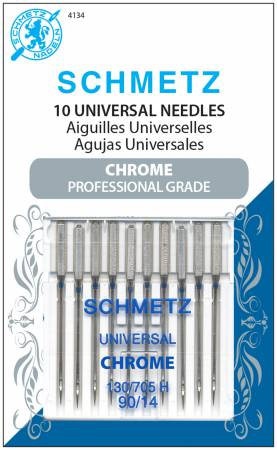 Chrome Universal Schmetz Needle 10 ct, Size 90/14