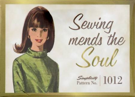 Simplicity Vintage Sewing Mends the Soul Magnet