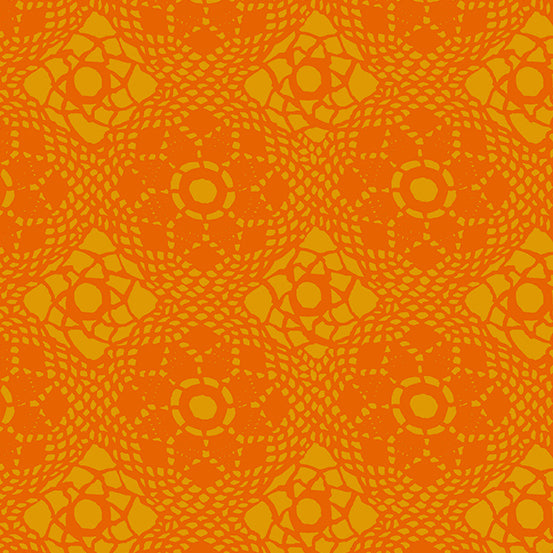 Orange lace design