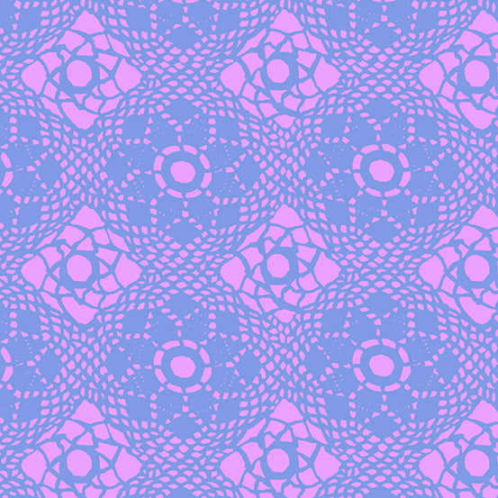 Purple and pink lace design