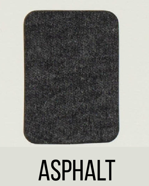 Asphalt - LUXE Solids FRENCH TERRY - 1/2 Metre