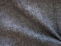 Black - Yarn Dyed Linen Cotton - 1/2 metre