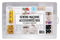Sewing Accessory Box with Movable Partitions