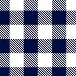Buffalo Check Navy/Snow - Cuddle - 1/2 Metre