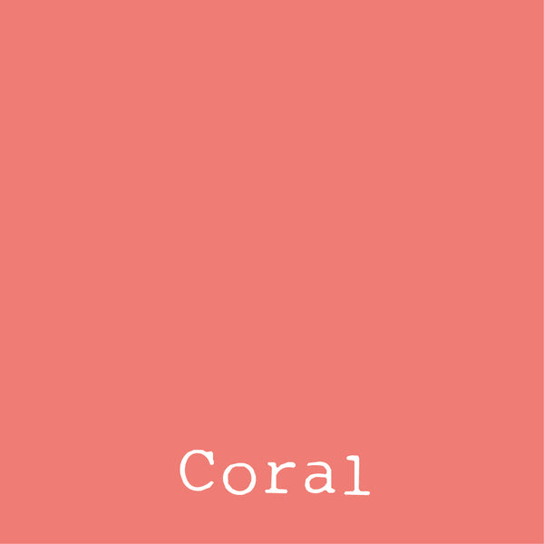 Coral - LUXE Solids Jersey Knit - 1/2 Metre