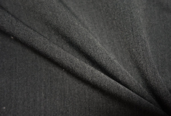 Charcoal - Two-Way Twill - 1/2 metre