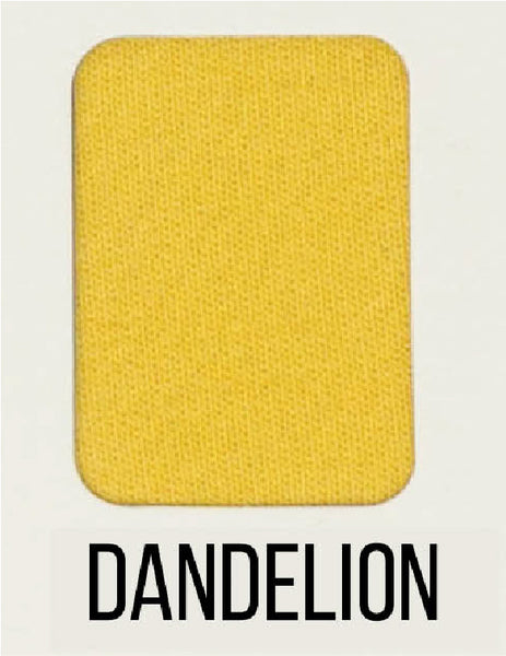 Dandelion - LUXE Solids FRENCH TERRY - 1/2 Metre