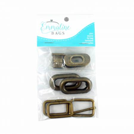 Spring Sling Hardware Kit - Antique Brass