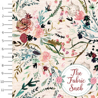 Fable Floral Blush - 1/2 Metre - Esther Fallon Lau Collection