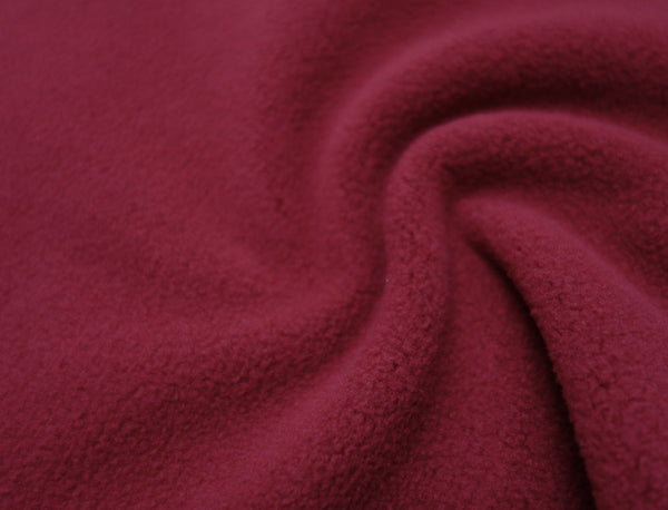 Dark Red - Glacier Fleece - 1/2 metre